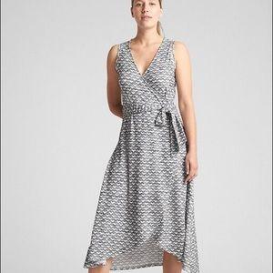 New! GAP Sleeveless Wrap Midi Dress XL